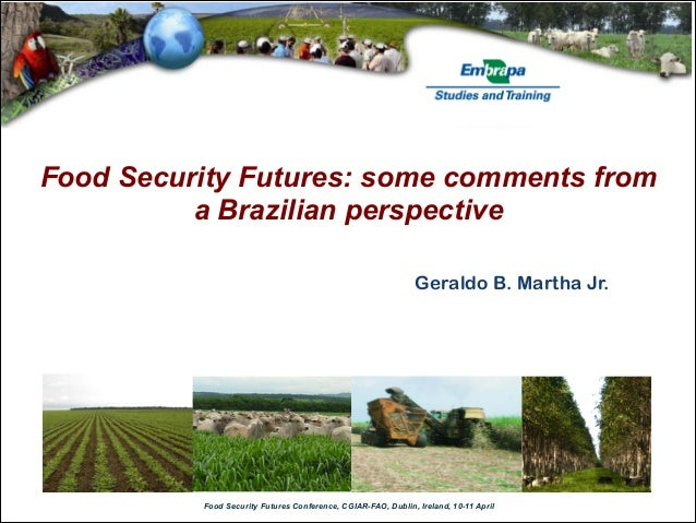 Food Security Futures: some comments from          a Brazilian perspective                                                ...