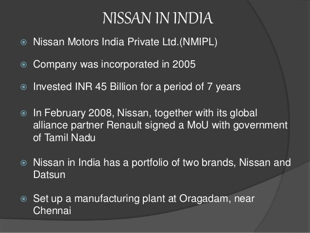 Modes of market entry of pizza hut nissan motors and vodafone for Marketing strategy of nissan motor company