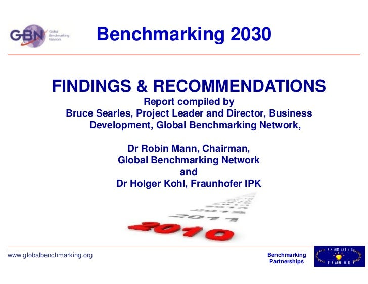 Benchmarking 2030             FINDINGS & RECOMMENDATIONS                                 Report compiled by               ...