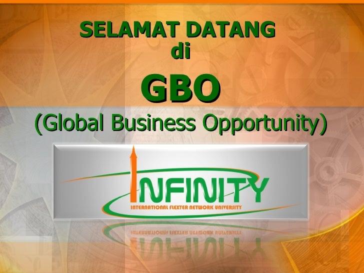 SELAMAT DATANG GBO (Global Business Opportunity) di