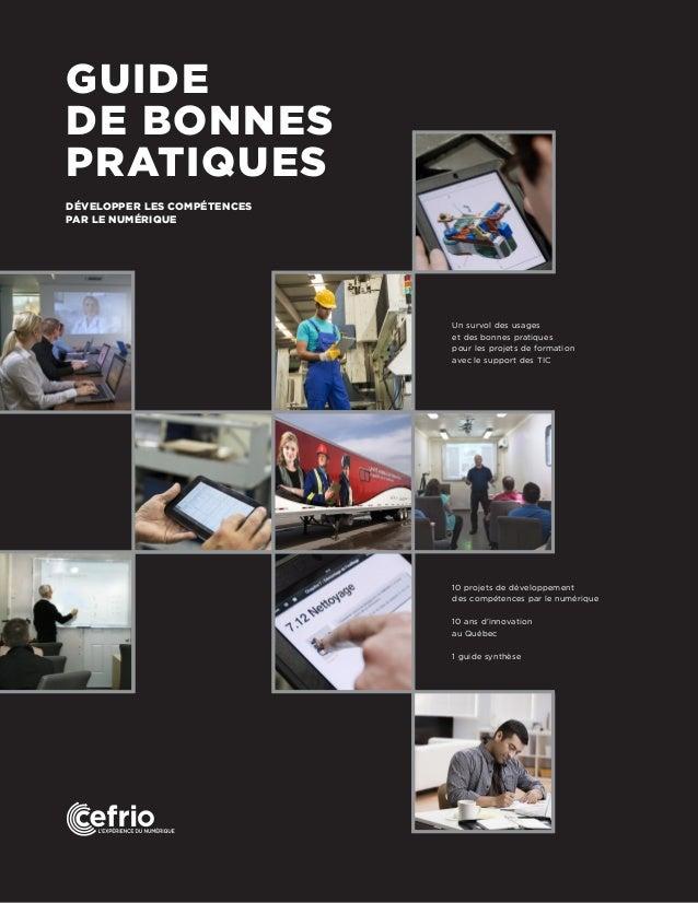 Un survol des usages et des bonnes pratiques pour les projets de formation avec le support des TIC 10 projets de développe...