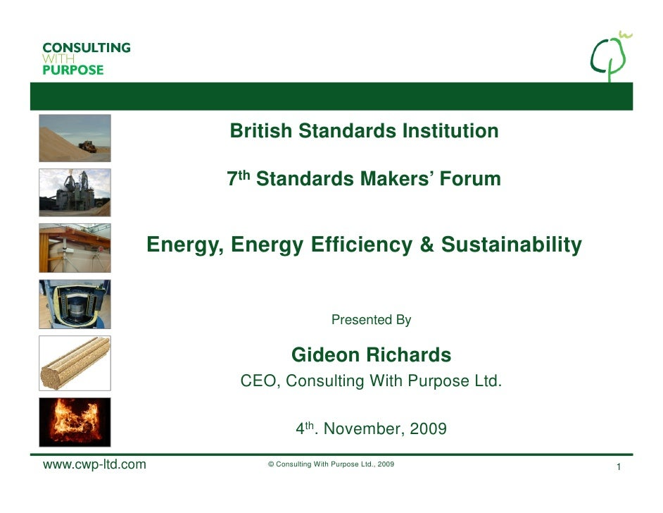 British Standards Institution                       7th Standards Makers' Forum                 Energy, Energy Efficiency ...