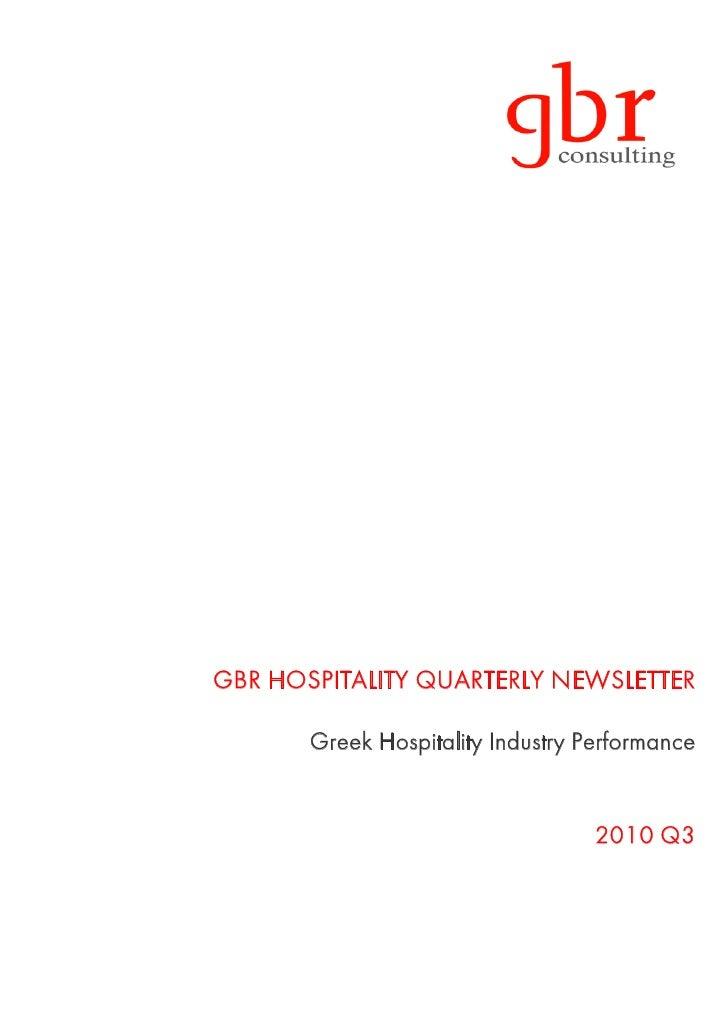GBR hospitality newsletter 2010 Q3