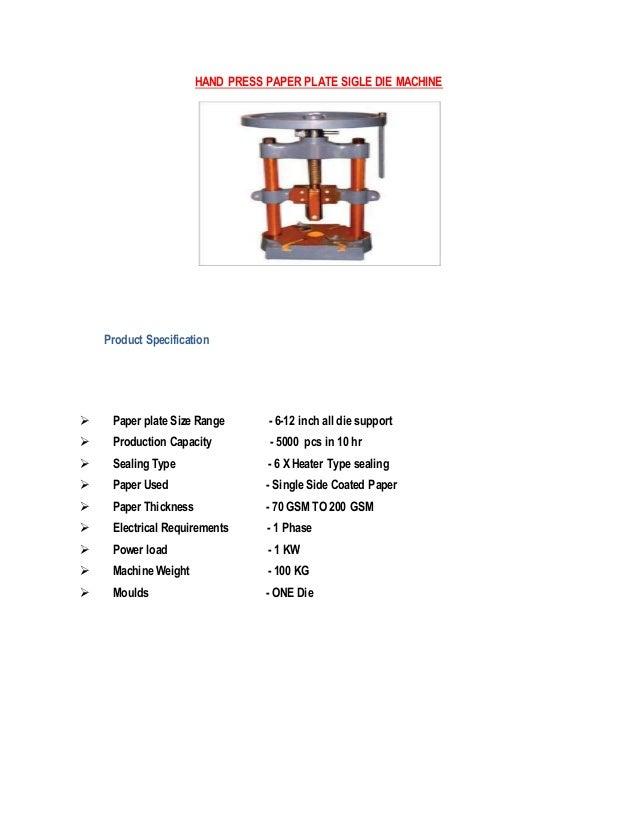 ... 9. HAND PRESS PAPER PLATE SIGLE ...  sc 1 st  SlideShare & Gbr mechelectronic company