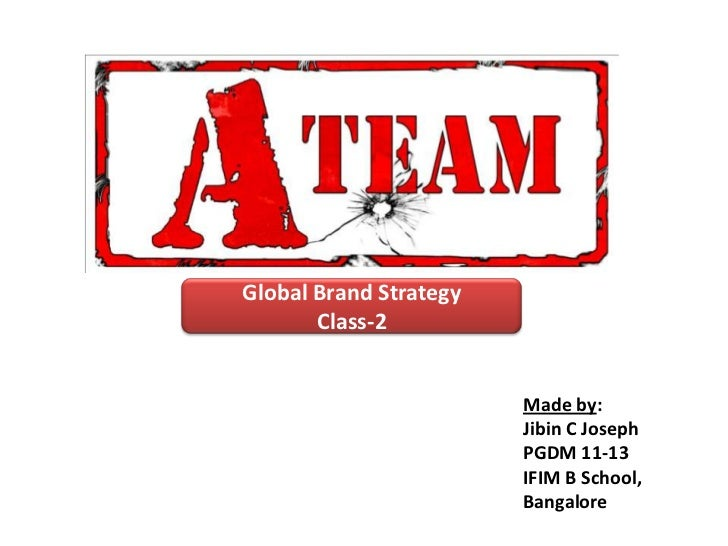 Global Brand Strategy       Class-2                        Made by:                        Jibin C Joseph                 ...