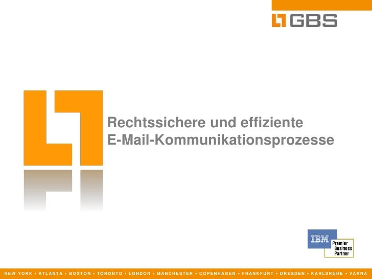 Rechtssicheres E-Mail-Management