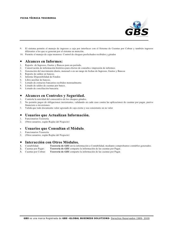 Tesorería Gbs Conozca El Módulo Innovaciones Manuales