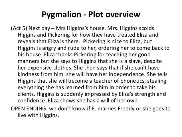 pygmalion short plot summary