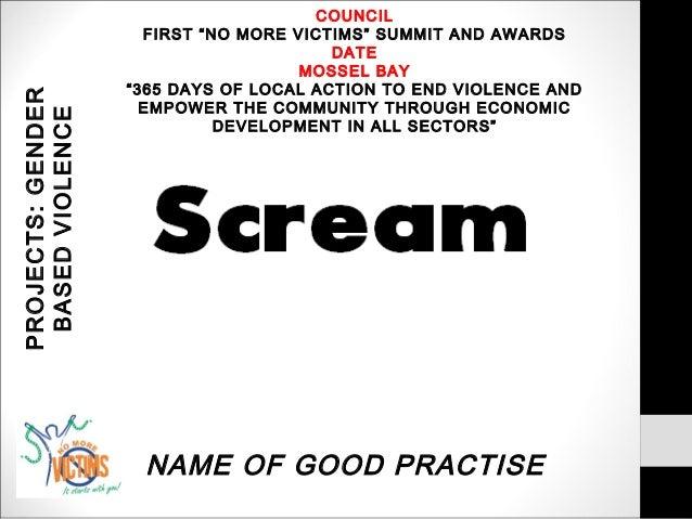 No More Victim Summit Gender Based Violence Prevention 2012