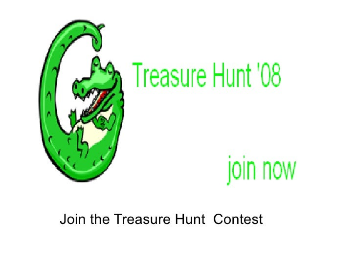 Join the Treasure Hunt  Contest