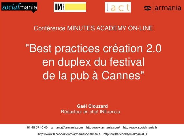 01 48 07 40 40 armania@armania.com http://www.armania.com/ http://www.socialmania.fr http://www.facebook.com/armaniasocial...