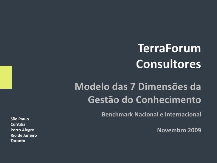 TerraForum                                  Consultores                  Modelo das 7 Dimensões da                    Gest...