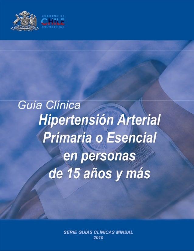 Hipertensión arterial... MINSAL