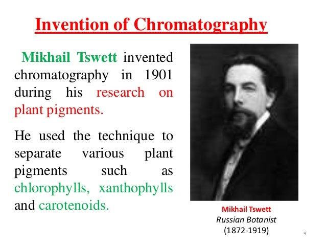 who introduced paper chromatography in biological research The technique is a valuable tool for the research paper chromatography a affinity chromatography that based on a highly specific biological.