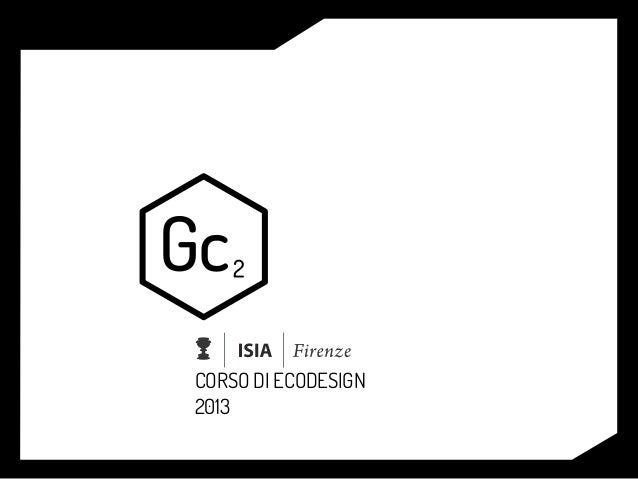 CORSO DI ECODESIGN2013