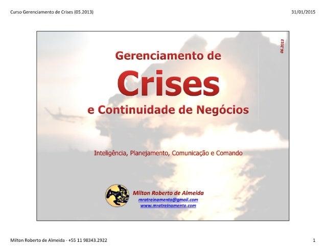 Gerenciamento de Crises - GC2015