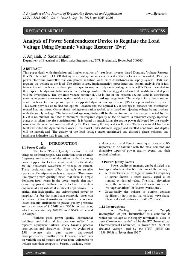 J. Anjaiah et al Int. Journal of Engineering Research and Application ISSN : 2248-9622, Vol. 3, Issue 5, Sep-Oct 2013, pp....