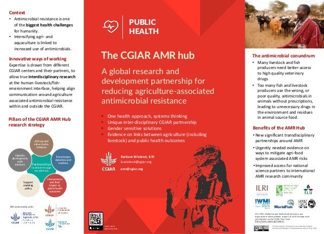 amr@cgiar.org A global research and development partnership for reducing agriculture-associated antimicrobial resistance P...