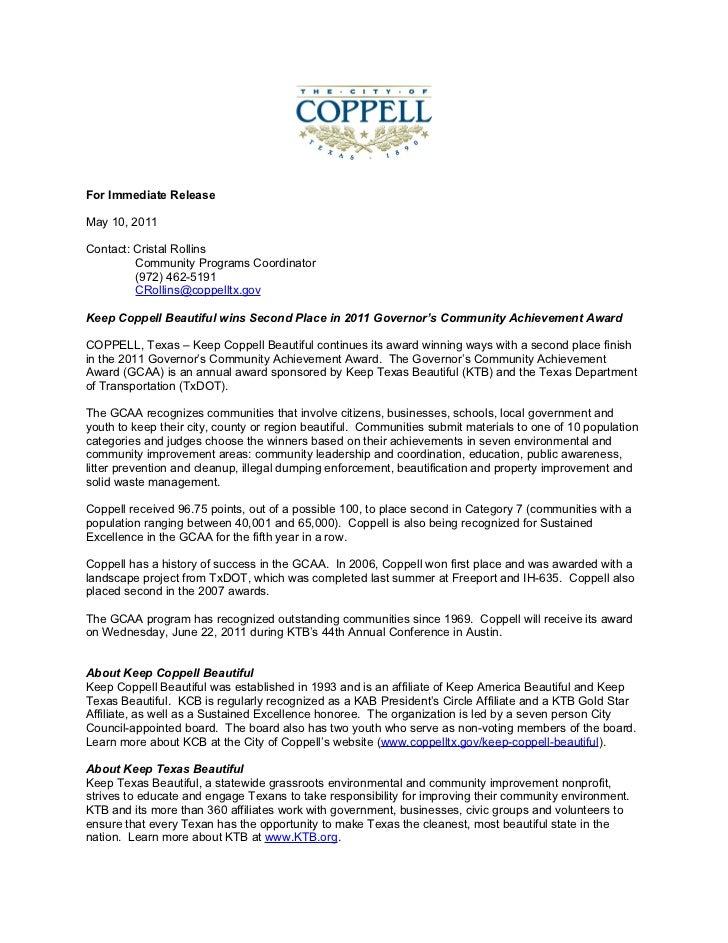GCAA 2011 award release
