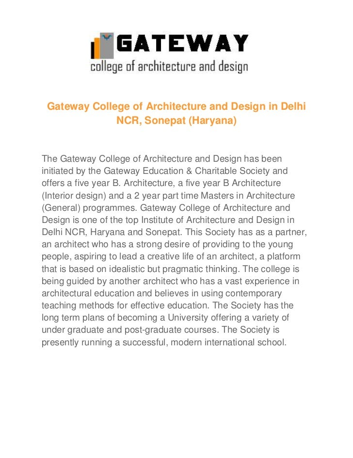 Excellent And Top Architecture Institute In Delhi Ncr Sonepat Harya