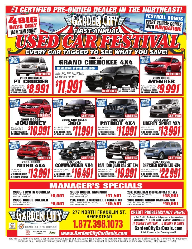 Garden City Jeep Chrysler Dodge Used Car Sale Jeep Chrysler Dodge