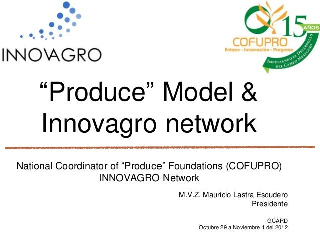 """Produce"" Model &    Innovagro networkNational Coordinator of ""Produce"" Foundations (COFUPRO)                  INNOVAGRO N..."