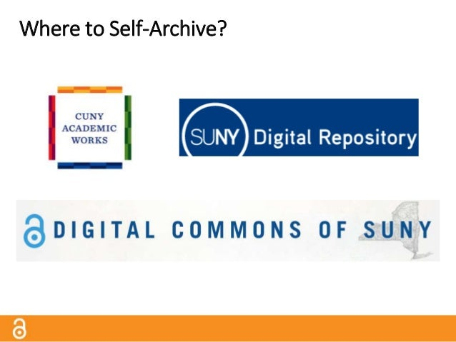 Where Else to Self-Archive? Subject Repositories Directory of Open Access Repositories http://www.opendoar.org/ Note: Not ...