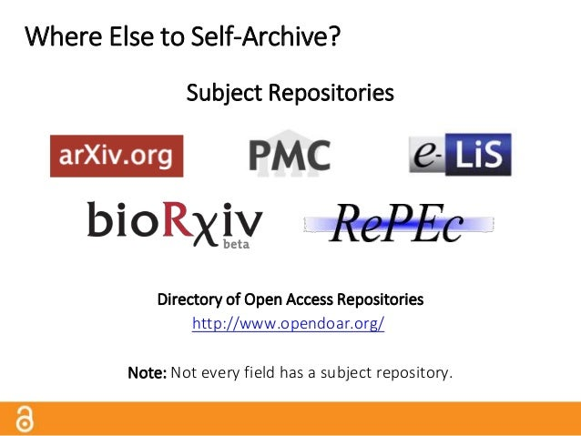 Where Else to Self-Archive? Subject Repositories vs.