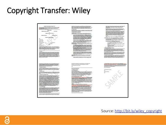 Copyright Transfer: Wiley Full Copyright Transfer, with Permitted Uses by Contributor: • Submitted Version: Right to self-...