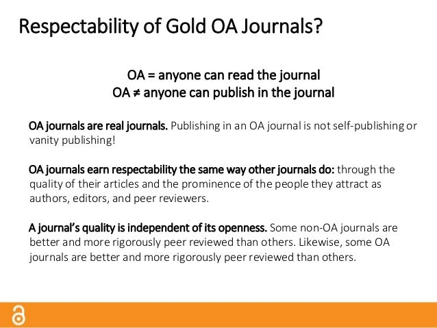 Business Models If OA journals are free to read, how do they cover costs? There are many business models for OA journals, ...