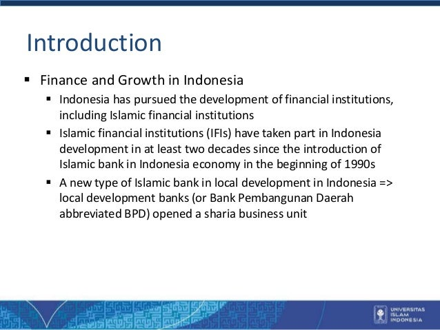 Islamic banks and local development in indonesia 3 introduction finance and growth in indonesia malvernweather Gallery