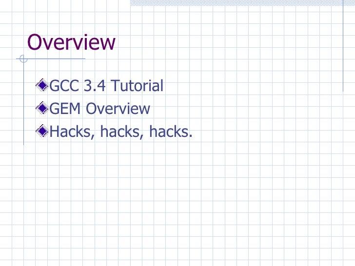 Gem Gnu C Compiler Extensions Framework