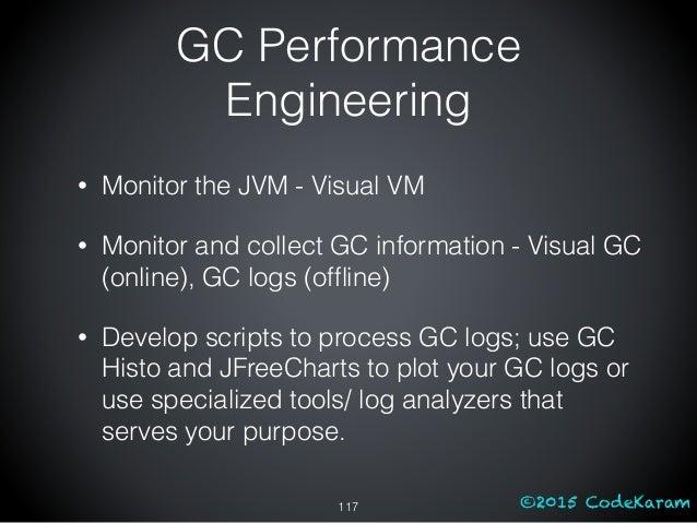©2015 CodeKaram GC Performance Engineering • Monitor the JVM - Visual VM • Monitor and collect GC information - Visual GC ...