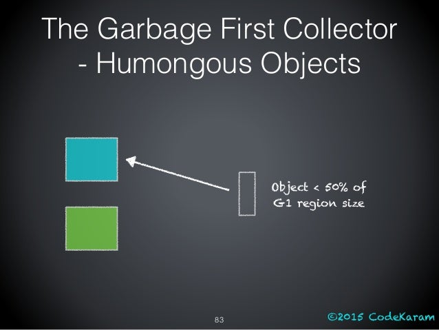 ©2015 CodeKaram The Garbage First Collector - Humongous Objects 83 Object < 50% of G1 region size