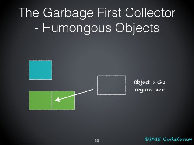 ©2015 CodeKaram The Garbage First Collector - Humongous Objects 85 Object > G1 region size