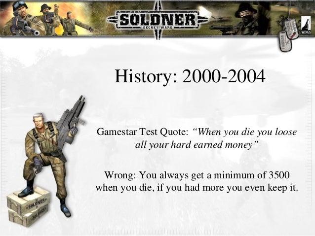 2004: Söldner - a Post Mortem Slide 3