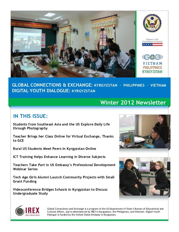 GLOBAL CONNECTIONS & EXCHANGE: KYRGYZSTAN · PHILIPPINES · VIETNAMDIGITAL YOUTH DIALOGUE: KYRGYZSTAN                       ...