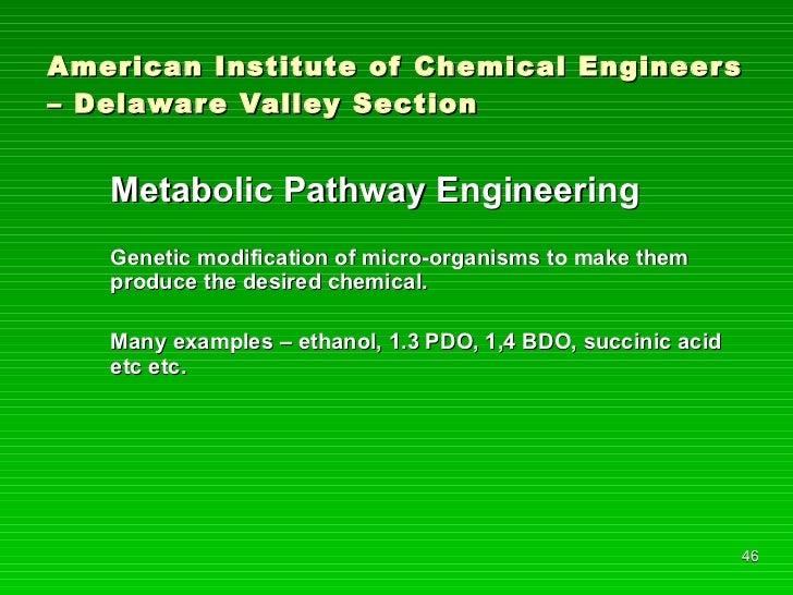 American Institute of Chemical Engineers – Delaware Valley Section <ul><li>Metabolic Pathway Engineering </li></ul><ul><li...