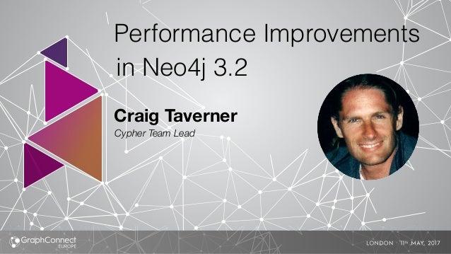 Craig Taverner Cypher Team Lead Performance Improvements in Neo4j 3.2