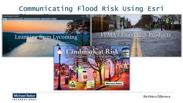 Communicating Flood Risk Using Esri Story Maps