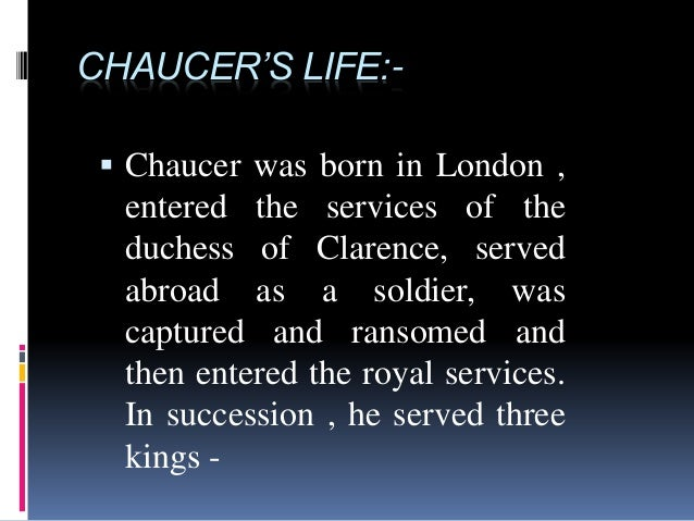chaucers contribution Geoffrey chaucer was the greatest english poet of the later middle ages  only to william shakespeare in terms of his contribution to english.