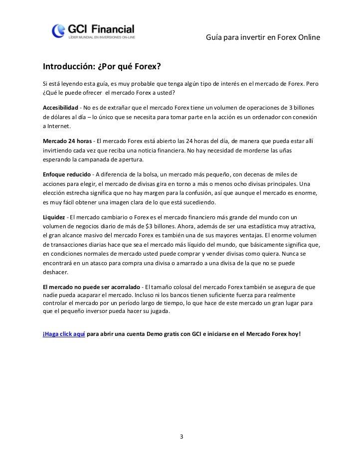 Guía para invertir en Forex OnlineIntroducción: ¿Por qué Forex?Si está leyendo esta guía, es muy probable que tenga algún ...