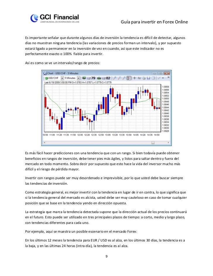Guía para invertir en Forex OnlineEs importante señalar que durante algunos días de inversión la tendencia es difícil de d...
