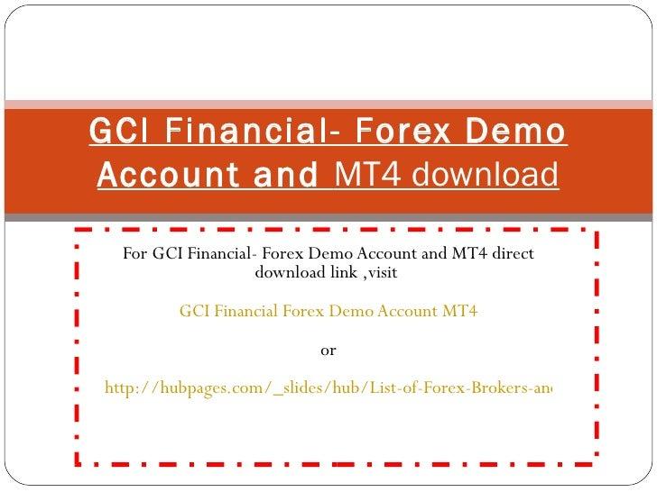 Gci mt4 demo download