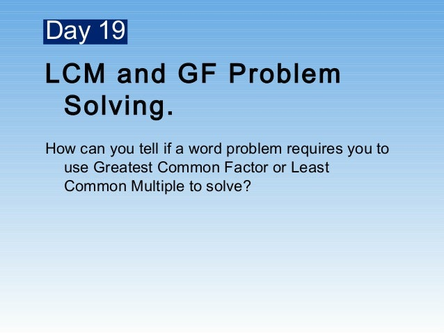 5 College Application Topics about Homework help least common multiple – Gcf and Lcm Word Problems Worksheet