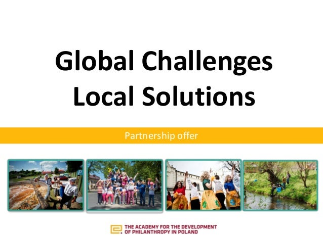 Partnership offer Global Challenges Local Solutions