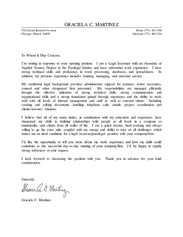 Signed Cover Letter Under Fontanacountryinn Com