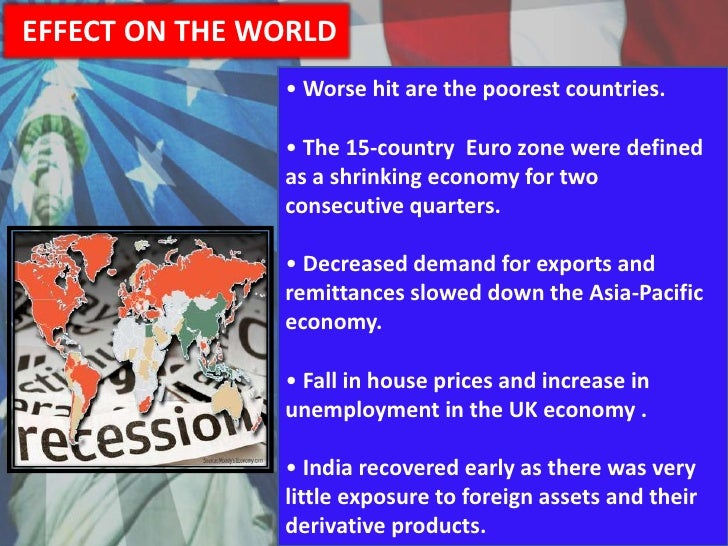 causes of global recession The world is more interconnected today than ever before, and a collapse of the financial system in europe will cause a massive global recession once the global economy slides into another major recession, it is going to take years to recover.