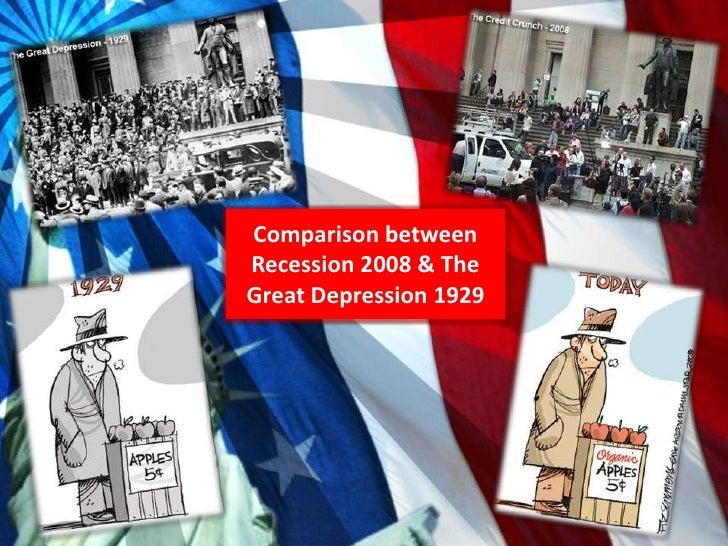 Great Depression vs. 'Great Recession'