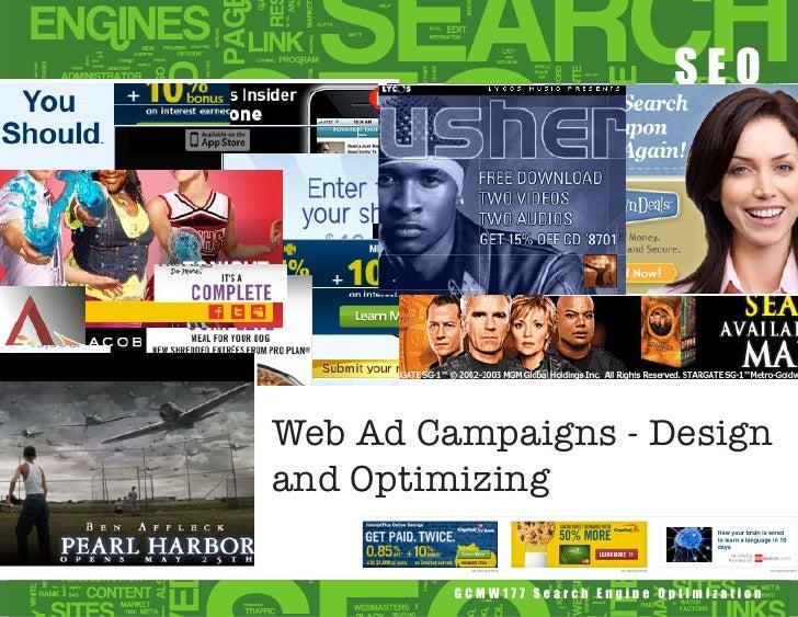 SEOWeb Ad Campaigns - Designand Optimizing         GCMW177 Search Engine Optimization